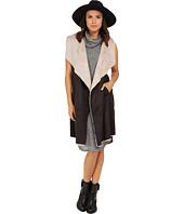 Brigitte Bailey - Marian Long Suede Vest w/ Faux Fur