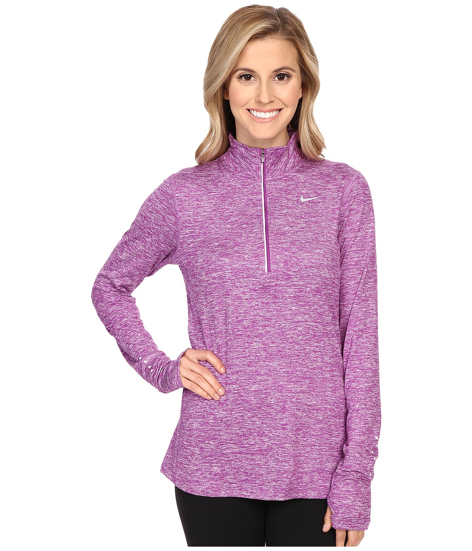 Nike Dri Fit Element Half Zip Cosmic Purple Heather