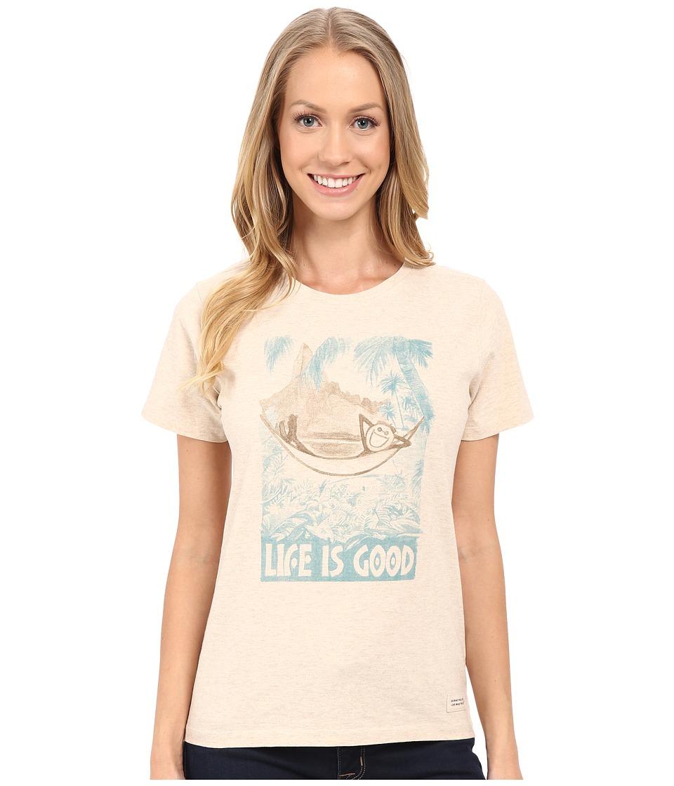 Life is good - Watercolor LIG Hammock Crusher Tee (Heather Oatmeal) Women