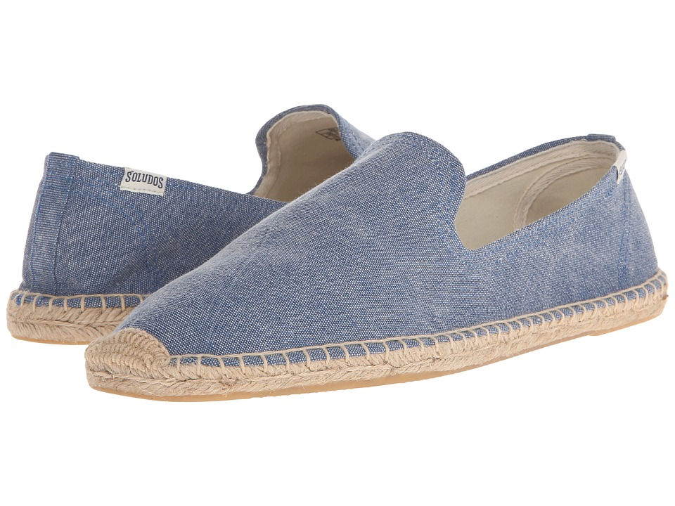 Soludos Smoking Slipper (Washed Canvas Blue) Men