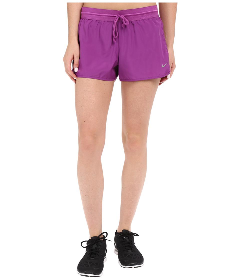 Nike Run Fast Running Short Cosmic Purple/Bright Crimson/Reflective Silver Womens Shorts