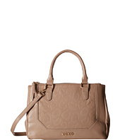 XOXO - Animal Embossed Double Zip Satchel