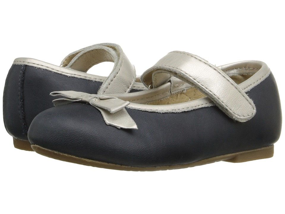 Old Soles Praline Bow Toddler/Little Kid Distressed Navy/Chalk Girls Shoes