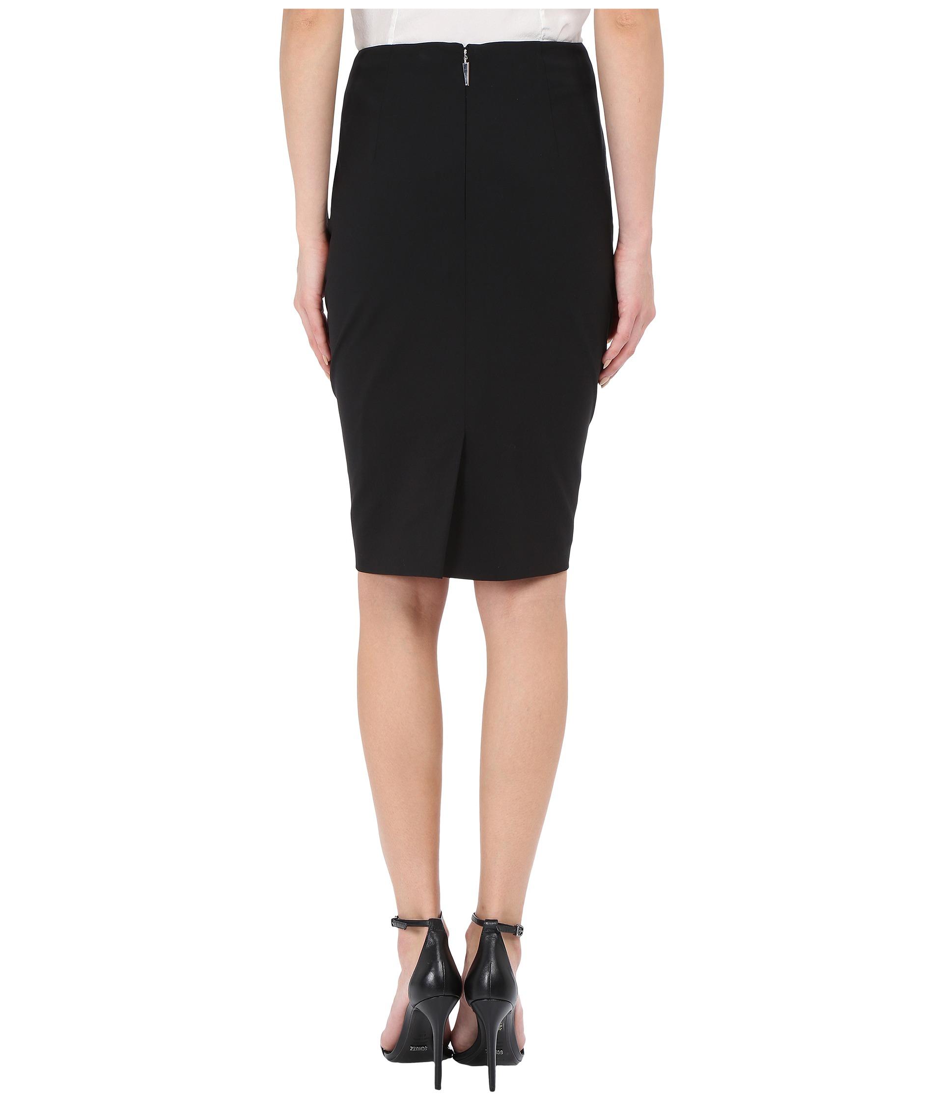 prabal gurung stretch wool knee length skirt at zappos
