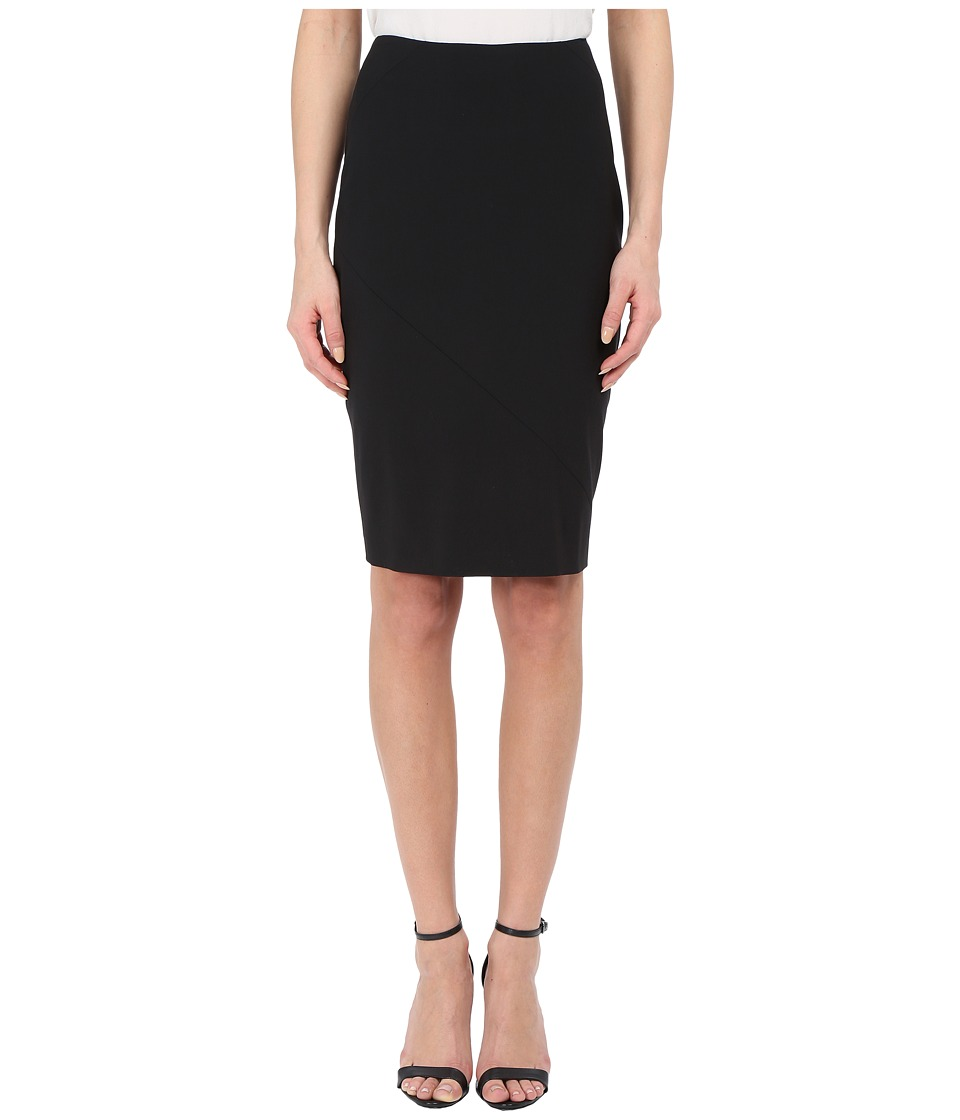 Prabal Gurung - Stretch Wool Knee Length Skirt (Black) Wo...
