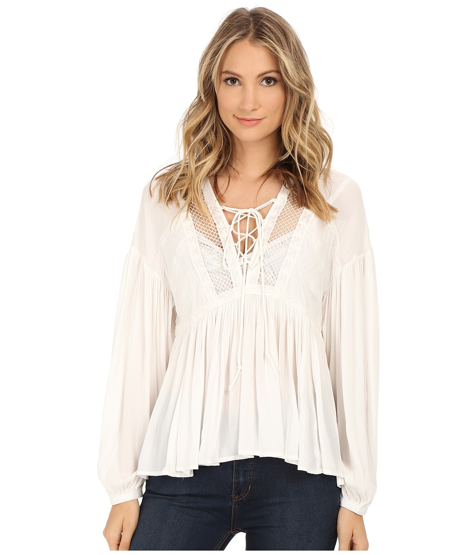 Free People Dont Let Go Peasant Top Ivory Womens Blouse