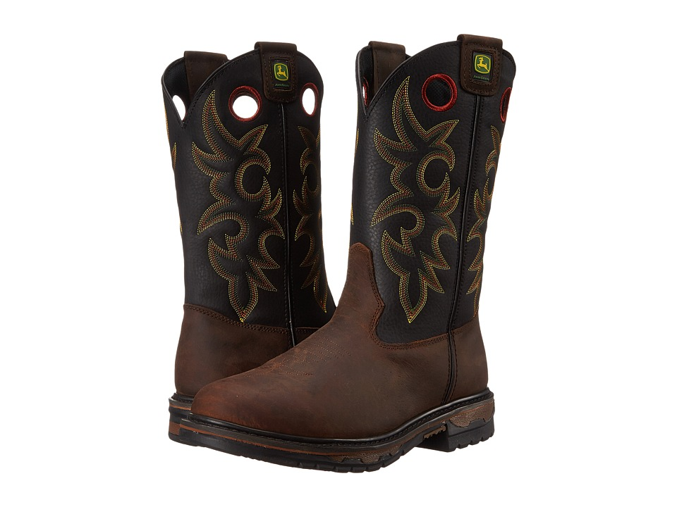 John Deere Steel Toe Brown Bison Mens Work Boots