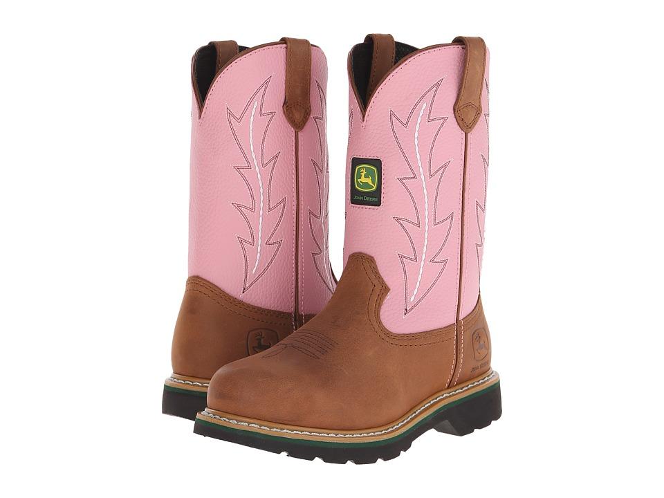 John Deere Pull-On (Pink) Women's Work Boots