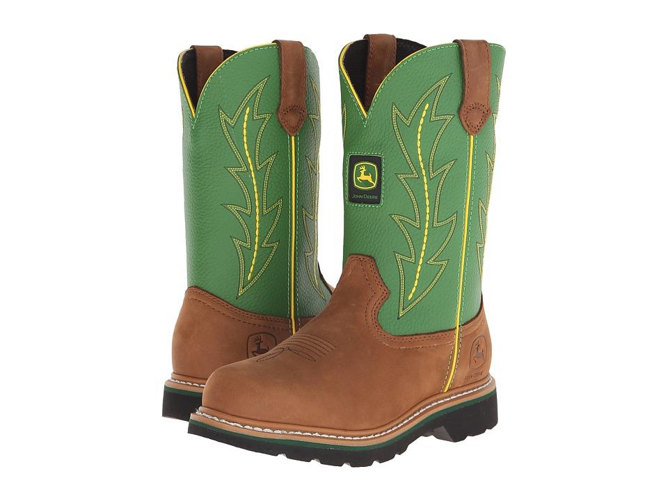 John Deere Pull On Green Womens Work Boots