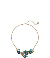 Betsey Johnson - Skulls and Roses Flower Mini Frontal Necklace