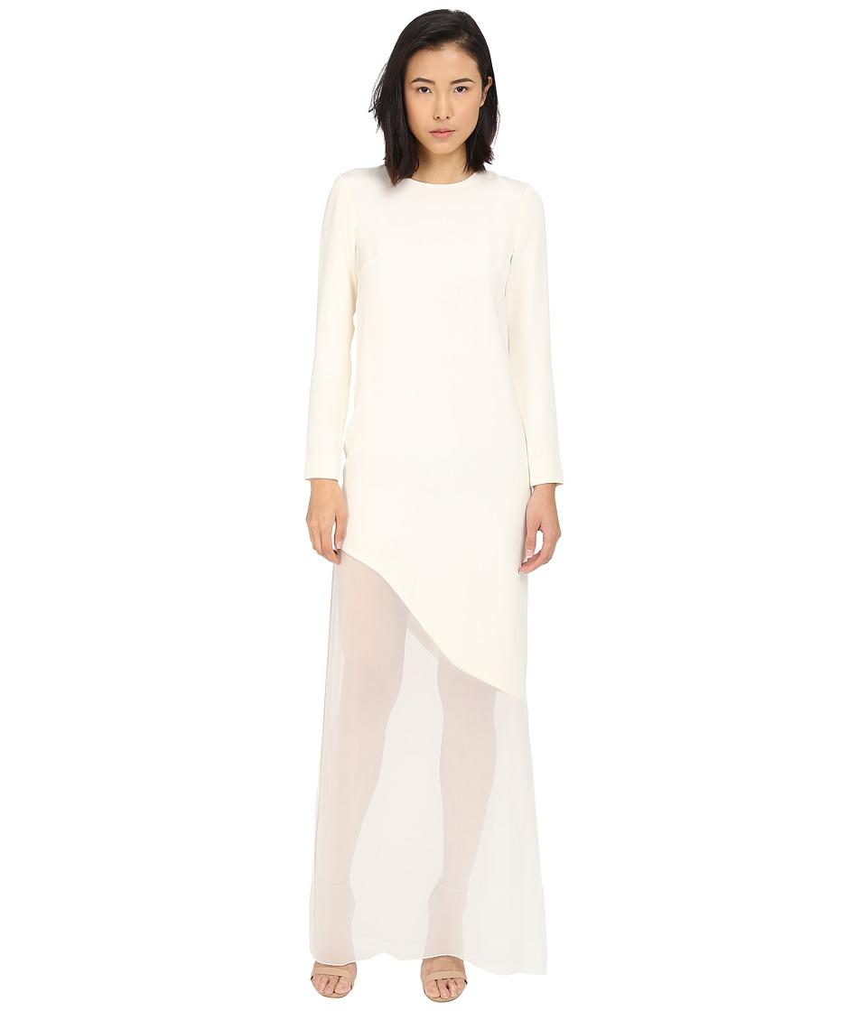 Prabal Gurung Sheer Asymmetrical Dress Magnolia Womens Dress