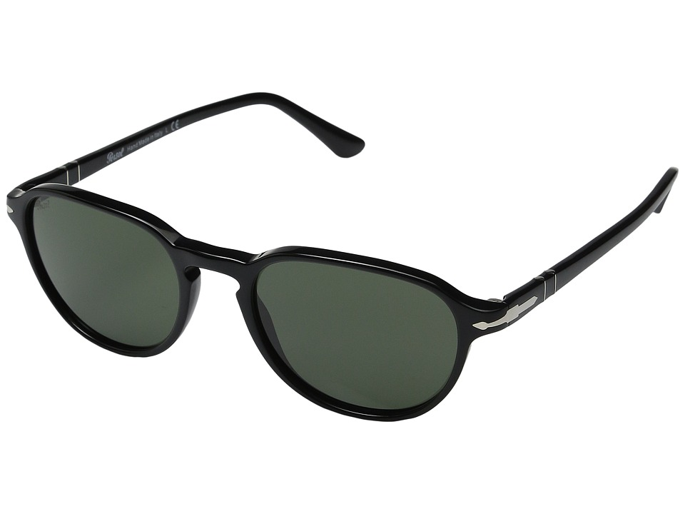Persol 0PO3053S Black/Black/Green Fashion Sunglasses