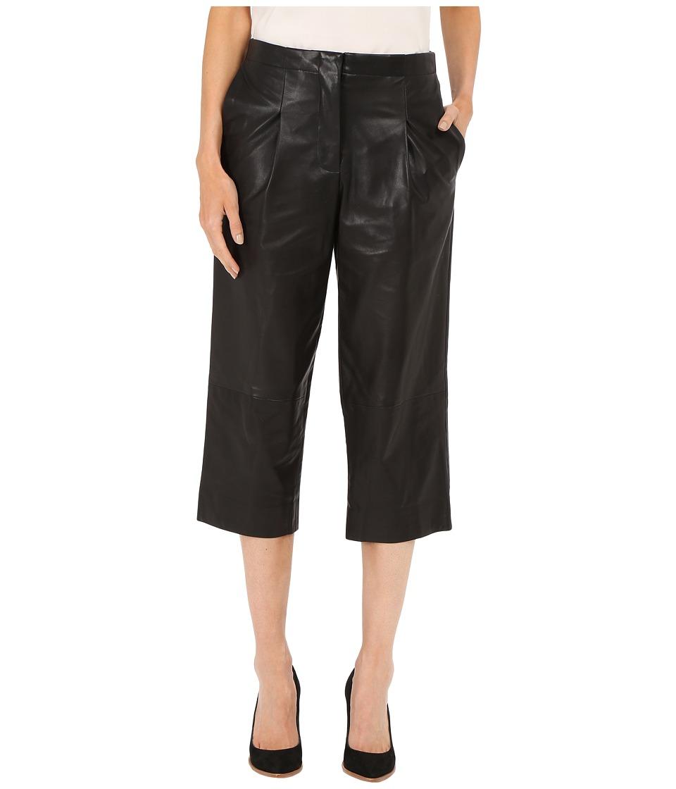 Prabal Gurung Leather Capri Pants Black Womens Capri