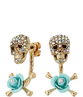 Betsey Johnson - Skulls and Roses Front/Back Earrings