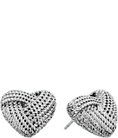 Betsey Johnson - Anchors Away Heart Rope Stud Earrings