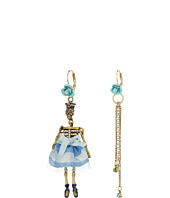 Betsey Johnson - Skulls and Roses Skeleton Non-Matching Earrings