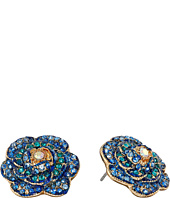Betsey Johnson - Skulls and Roses Flower Stud Earrings