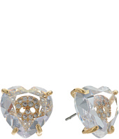 Betsey Johnson - Mini CZ's Skull Heart Stud Earrings