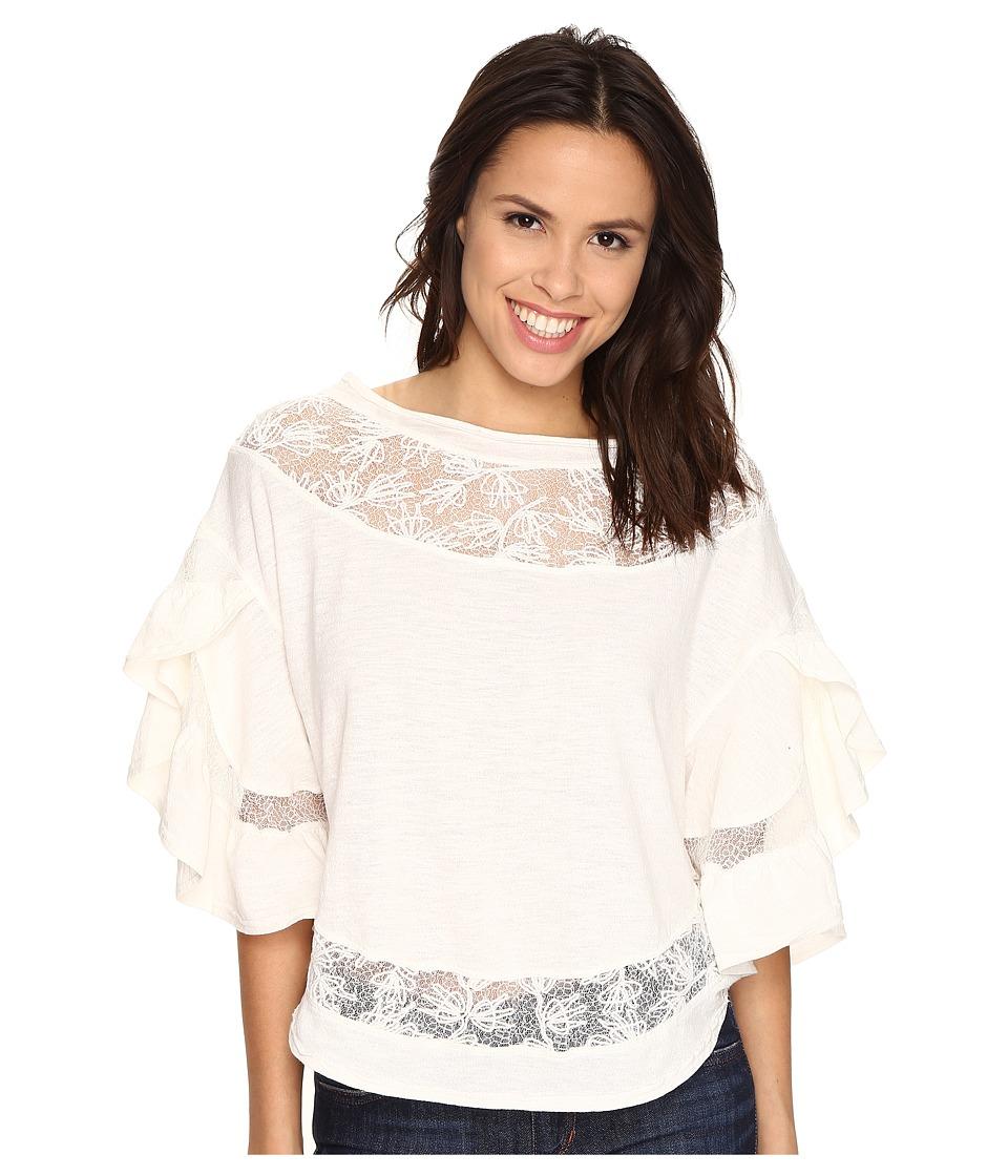 Free People Love Affair Top Ivory Womens T Shirt
