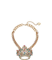Betsey Johnson - Princess Charming Large Crown Pendant Necklace
