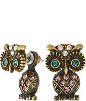 Betsey Johnson - Betsey Mini's Owl Front/Back Earrings