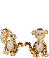 Betsey Johnson - Betsey Mini's Monkey Front/Back Earrings