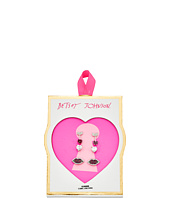 Betsey Johnson - CZ Heart Lip Arrow Stud Earrings Set