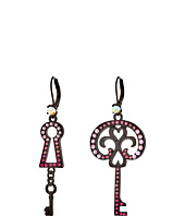 Betsey Johnson - Prisoner of Love Non-Matching Key Earrings