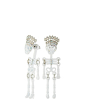 Betsey Johnson - Betsey Mini's Skeleton Front/Back Earrings