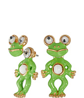 Betsey Johnson - Betsey Mini's Frog Front/Back Earrings