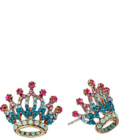 Betsey Johnson - Princess Charming Crown Stud Earrings