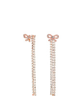 Betsey Johnson - Princess Charming Bow Front Back Linear Earrings
