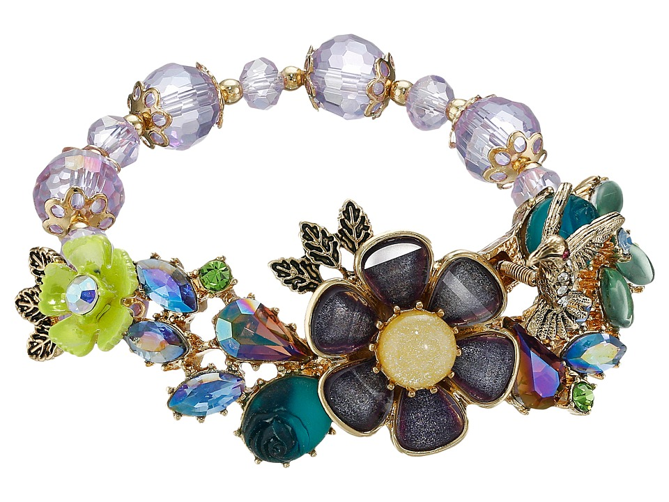 Betsey Johnson Spring Ahead Stretch Flower Bracelet Multi Bracelet
