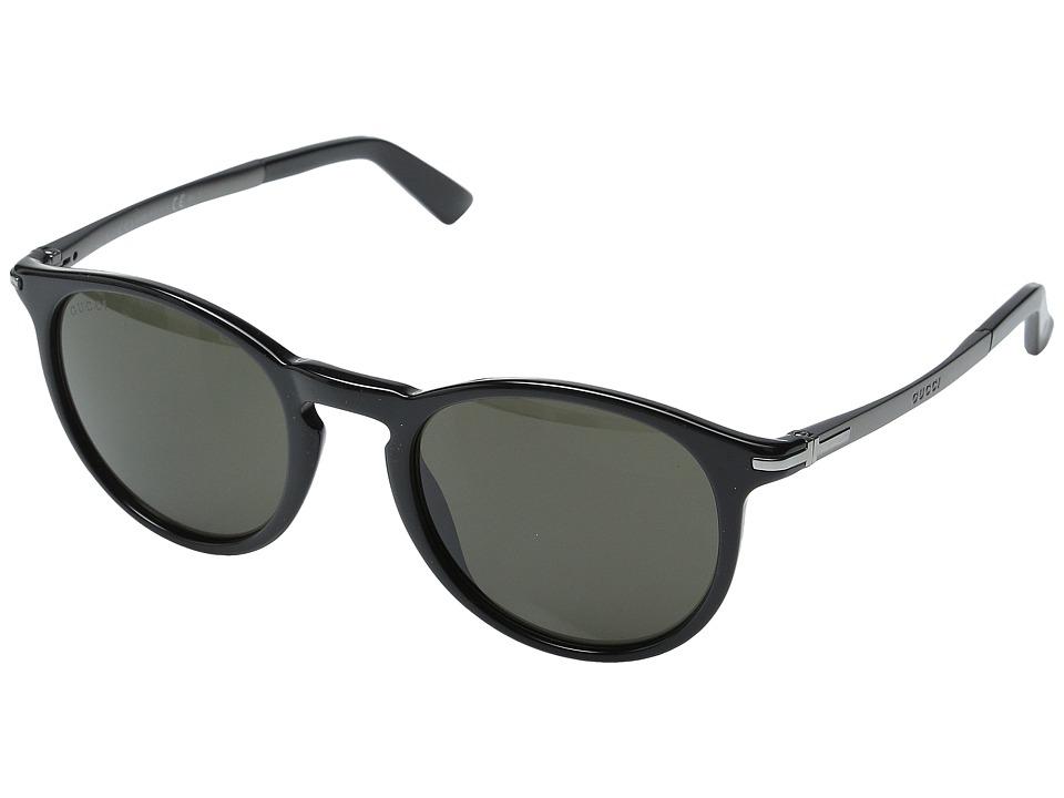 Gucci GG 1110/S Black Dark Ruthenium/Brown Grey Fashion Sunglasses