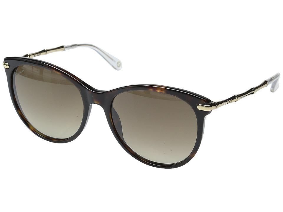 Gucci GG 3771/S Brown Havana Gold/Brown Gradient Fashion Sunglasses