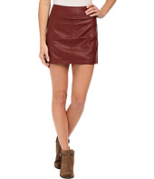 Free People - Zip To It Vegan Leather Mini Skirt