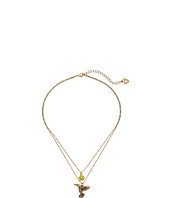 Betsey Johnson - Spring Ahead 2-Row Hummingbird Necklace