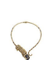 Betsey Johnson - Critters Pave Leopard Collar Necklace
