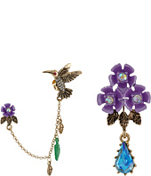 Betsey Johnson - Spring Ahead Hummingbird Ear Cuff Stud Set