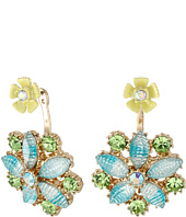 Betsey Johnson - Spring Ahead Flower Front/Back Earrings