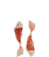 Betsey Johnson - Critters Pave Fish Non-Matching Earrings