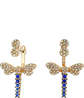 Betsey Johnson - Spring Ahead Dragonfly Front/Back Earrings