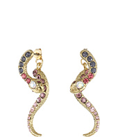 Betsey Johnson - Spring Ahead Snake Front/Back Earrings