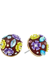Betsey Johnson - Spring Ahead Flower Orb Stud Earrings