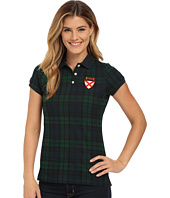 U.S. POLO ASSN. - Stretch Cotton Pique Plaid Polo Shirt
