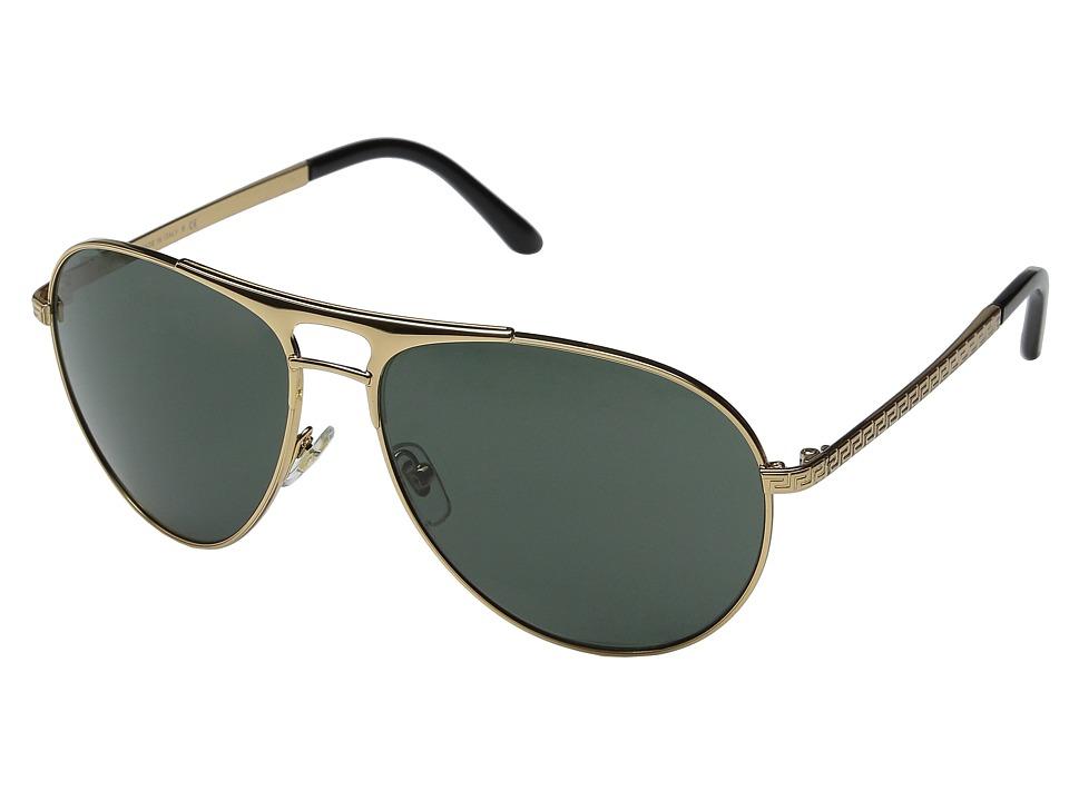 Versace VE2164 Gold/Gold/Gray/Green Fashion Sunglasses