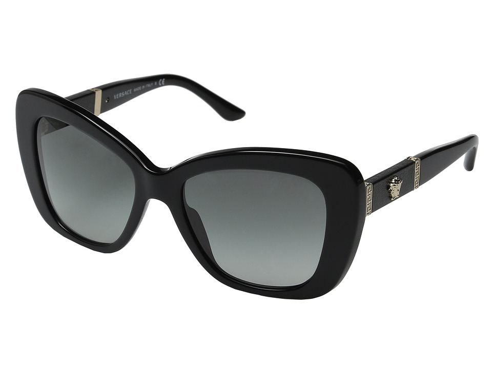 Versace VE4305Q Black/Black/Gray Gradient Fashion Sunglasses