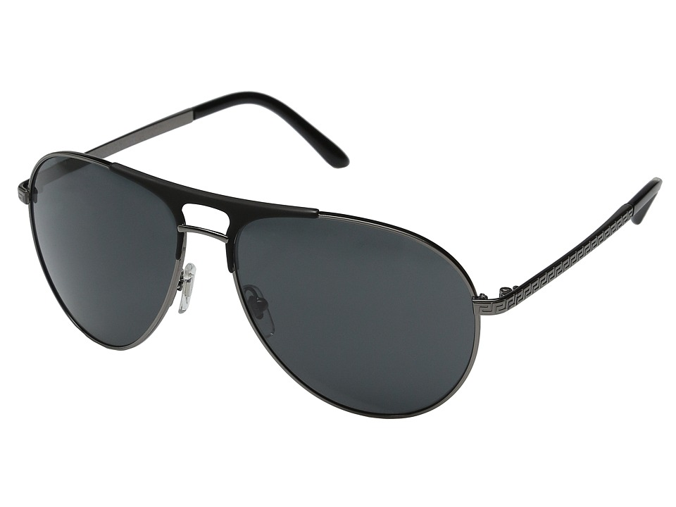 Versace VE2164 Gunmetal/Matte Black/Gunmetal/Gray Fashion Sunglasses