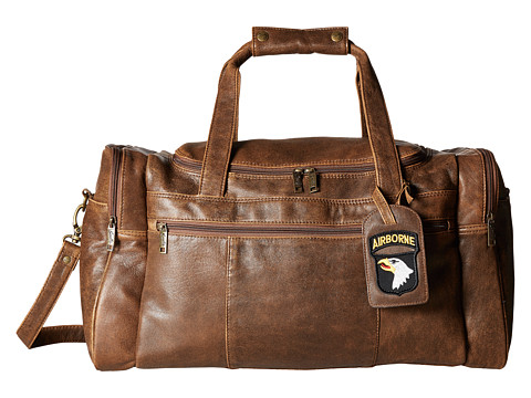 Scully Squadron Duffel w/ 81 Aero Squadron Luggage Tag - Antique Brown