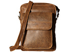Scully Squadron Collection Travel/Passport Shoulder Tote (Antique Brown)